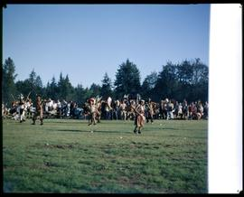 Dancers in field