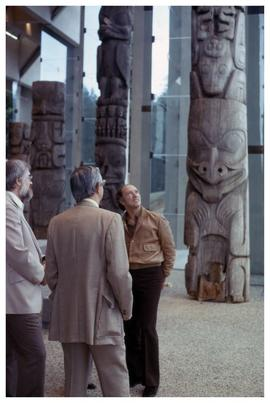 First people to enter U.B.C. [Museum of Anthropology]