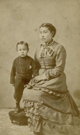 Portrait of girl and boy