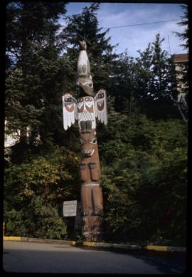 Kyan pole at head of Main Street, Ketchikan, Alaska