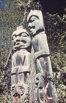 Two old totem poles