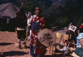 Woman and drum
