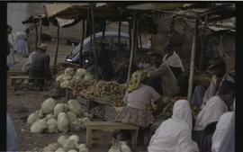 Food stalls in a market in northern Ethiopia
