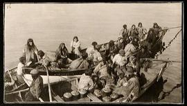 Inuit People in Whale Boats at Igluligaarjuk