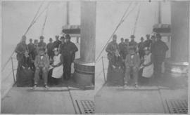 Group portrait on ship deck