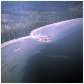 Aerial view of coastline