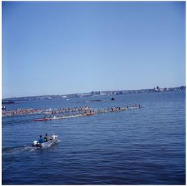 Canoe races, North Van