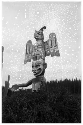 Thunderbird and Dzunukwa totem pole