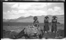 Tibetan peasants outside of Phari