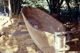 Unfinished canoe