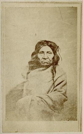 [Portrait of elder in blanket]