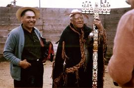 Chief Councillor, Jam. Sewid and Tom Ohmeid, Fort Rupert