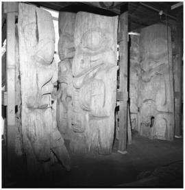 Fragments of Halibut pole and others, U.B.C.