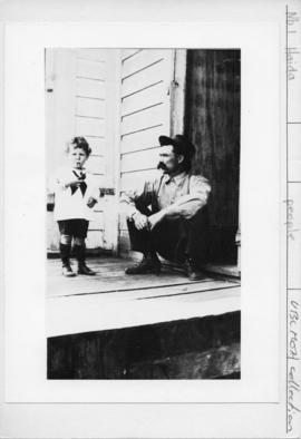 Bill Reid and his grandfather Charles Gladstone