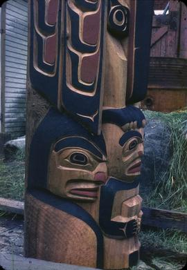 Mosquito Totem Pole, closeup of base