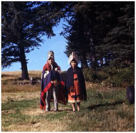 Nuu-chah-nulth], Yuquot, couple in ceremonial dress