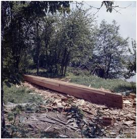 Dan George, canoe building