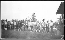 Group portrait of men in native dress