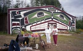Women in front of Alert Bay Community House