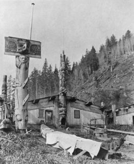 House posts and poles, B. C.