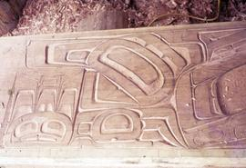 Wood relief carving
