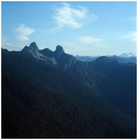 The Lions peaks, North Shore Mountains