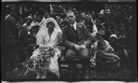 [Marriage photo of Annie MacDonald and Mr. F. Perry]
