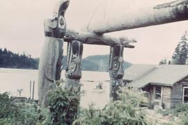 House posts and beam, Quatsino, BC