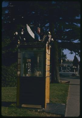 Thunderbird phone booth in front of Empress, Victoria, B.C.