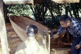 Carving the Nootka canoe