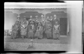 Maj. & Hon. Mrs FM Bailey & officers and their wives of the 7th Rajput at Gangtok Sikkim