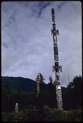 Totems at Totem Bite [Bight], Ketchikan, Alaska