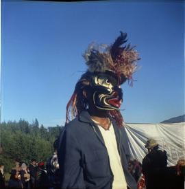 Man in mask, Alert Bay