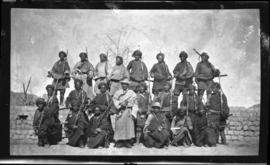 Tibetan officer and troops (Khamba [escort])