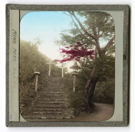 Mountain stairway with arch