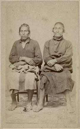 [Portrait of two Fort Rupert Chiefs, B. C.]