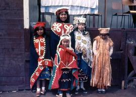 Children dressed in regalia, view two