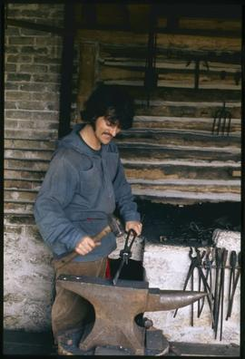 Blacksmith at Lower Fort Garry, Man.