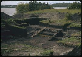 K'nu Canoe Point Venn Passage, P. Rupert Harbor, Archeological site looking south, note floo...