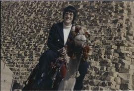 Lorna R. Marsden on a camel