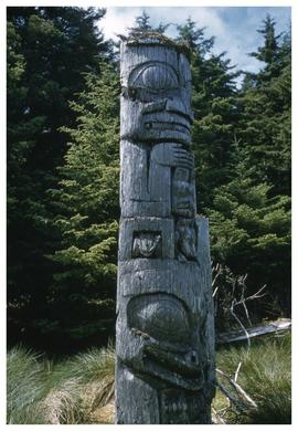 Ninstints, totem pole