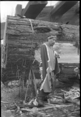 Norman and the canoe log