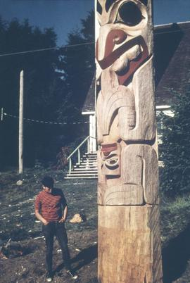 Robert Davidson (?) at Massett 1969