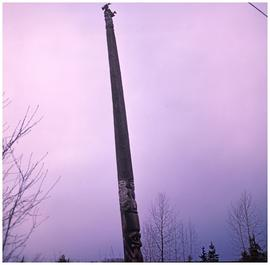 [Unidentified totem pole, Hazelton area]