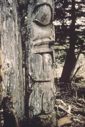 Totem pole or house post, Anthony Island
