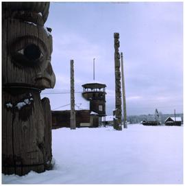 [Totem poles, Ans'pa yaxw (Kispiox): Garment-of-Eagle-People Pole]