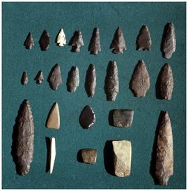 Arrow and spearheads, Stephen Carter Collection
