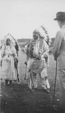 Chief and Mrs. Hunter with Lord Tweedsmuir