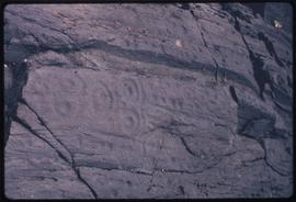 Petroglyphs near archeological site, Mainland, B.C.