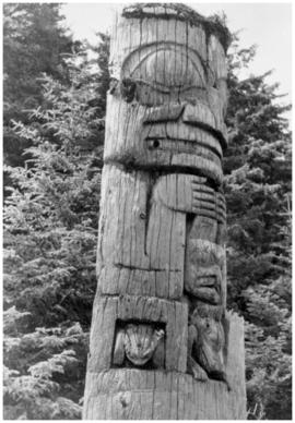House post, Sgang Gwaay, Haida Gwaii